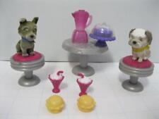 MEG POCKETVILLE Puppy In My Pocket Flocked Animal Family DOG ICE CREAM SHOP SET