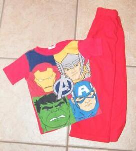 CLEARANCE Boys Small 4 / 5 Red MARVEL AVENGERS Pants & Shirt Pajama Set