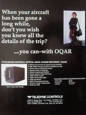 4/1992 PUB TELEDYNE CONTROLS OQAR OPTICAL QUICK ACCESS RECORDER ORIGINAL AD