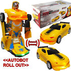 By Broward Toys Robot Race Car Bump and Go Action with Lights and Sounds