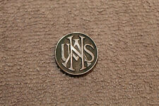 Original WW1 U.S. Army National Army Enlisted Mens Collar Insignia, Screw Back
