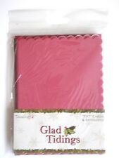 """8 Dovecraft 5x7"""" Scalloped Cards & Envelopes Glad tidings Christmas pink & green"""