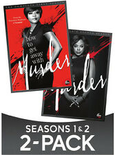 How To Get Away With Murder: Season 1 & Season 2 - 8 DISC SET (2017, DVD New)