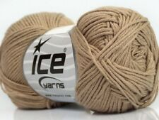Beige Cotton Bamboo Yarn Ice #41440 Baby / Sport Weight 50 Gram 153 Yards
