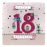 Second Nature 18th Birthday Keepsake Card Luxury Handmade Square Greeting Cards