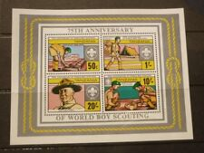 OLD BOY SCOUT GIRL GUIDE STAMP COLLECTION, TANZANIA 75th ANNIV MINT SHEET