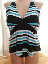 Additions Elle Cactus line support Tankini swimsuit bathers top size 2XL 20 NEW