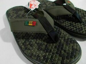Vans LA COSTA LITE FLIP FLOPS Sandal RASTA GRAPE LEAF BLK Men's 13 US NEW