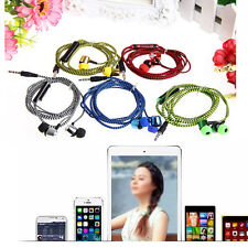 3.5mm In-Ear Earphone Headphone With Mic Braided Headset For iPhone Samsung LG
