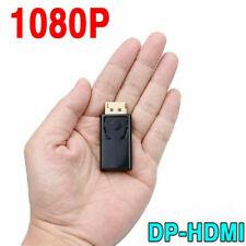 Useful Adaptor Converter Display Port DP Male To HDMI Female Adaptor Fit HDTV .W