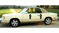 1982-1986 Chrysler LeBaron convertible window weatherstrip kit, 8pcs