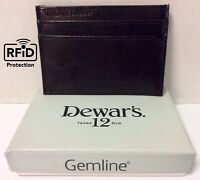 """Dewar's """"Scotch Brand"""" Wallet Credit Card Holder - Gemline Genuine Leather NEW"""