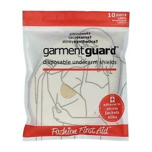 Garment Guard: Disposable Adhesive COTTON Underarm Sweat Pads Dress Shields 20