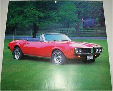 1967 Pontiac Firebird Convertible car print (red, no top)