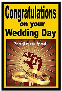 NORTHERN SOUL - WEDDING DAY CARD - GLOSS FINISH - BRAND NEW