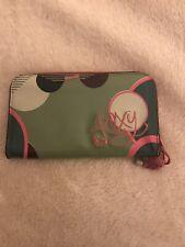 roxy large Pink Green Funky Purse Wallet