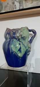 EARLY REMUED GRAPE DECORATED JUG. ONE OF ONLY 2 EXAMPLES KNOWN..HUGE!!
