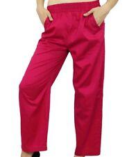 Bimba Women Pink Pajama With Pockets Modal Cotton Night Pyjama Sleepwear