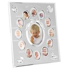 Baby My First Year 12 Month 13 Photo Silver Photo Frame Wall Hanging Shelf