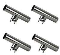 4 x Clamp On Rod Holder Boat Rail Mount Rod Holders Quality Cast Stainless 316Gr
