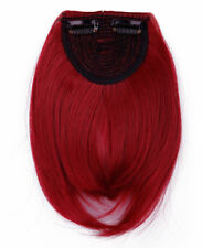 Fast Shipping Long Side Bang Clip in on Fringe Hair Extensions Front Neat Bangs