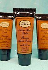 Lot / 3 The Art of Shaving LEMON Essential Oil AFTER-SHAVE BALM .5oz ea TSA Gift