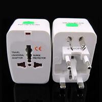 Universal World Travel Adapter Dual 2 USB Plug Charger AC Power UK US EU AU Set