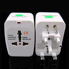 Universal World Travel Adapter Dual 2 USB Plug Charger AC Power UK US EU AU NZ