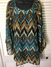 Anthropologie Maude Dress M Turquoise And Brown