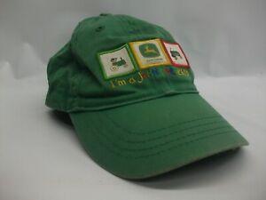 I'm A John Deere Kid Toddler Hat Green Elastic Back Baseball Cap