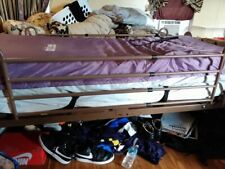 Used Electric Hospital Bed With Rails Air Mattress And Original Foam Mattress