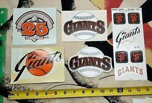 San Francisco Giants SF MLB Baseball Vintage Sports Stickers Logo Emblem LOT 80s