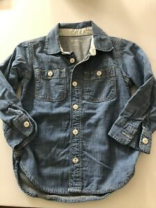 Boy's GAP Jersey Lined Chambray Button Front Shirt - Size 4