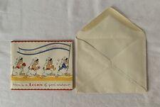 "Vintage c1940's AM Davis & Co Quality ""LEGION"" BIRTHDAY Greetings Card +Envelope"