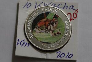 MALAWI 10 KWACHA 2010 PROOF ENDANGERED FROGS B38 XU35