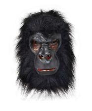 Gorilla Rubber Latex & Faux Fur Full Head Mask Fancy Dress Adult 14+