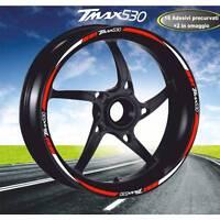 SET PROFILI CERCHIO ADESIVI BICOLORE TMAX 530 T MAX WHEEL STRIPS BIANCO ROSSO