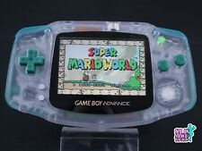 Nintendo Game Boy Advance CLEAR GREEN | New IPS screen | Clean power