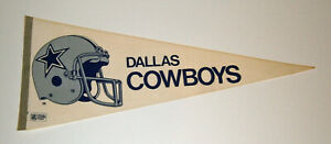 "1980's Dallas Cowboys pennant helmet logo 30"" original Troy Aikman era"