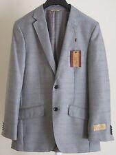 Mens Sport Coat 38R Suit Jacket Gray Blue Plaid Checkered 1926 Originals Blazer