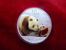 1 oz Chine Panda 2011 avec Goldapplikation gilded