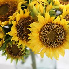 26cm Diá.7Heads Girasol Artificiales Flor de seda Novia Bouquet Home Party Decor