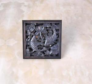 Oil Rubbed Bronze Square Bathroom Floor Drain Waste Grate Shower Drainer Phr039
