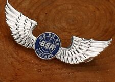 Silver Angel Wings Badge Pin Flying Medal Aviation Pilot BSR Souvenir Collection