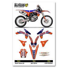 2011-2012 KTM SX/SXF Team Issue LO KTM Graphics