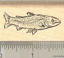 Trout Rubber Stamp E11512 WM freshwater fish, marine life, fishing