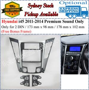 Fascia facia Fits Hyundai i45 i-45 2010-2014 Two 2 DIN Premium Sound Only-