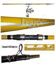 kit canna icarus 4m 120g + mulinello tebe pesca surfcasting beach ledgering mare