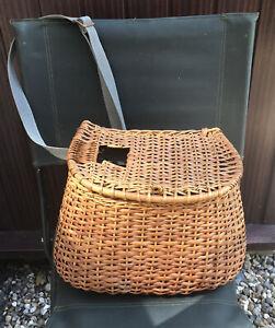 Antique / Vintage Creel Fishing Basket - Wicker