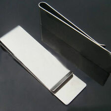 Mens Stainless Steel Silver Money Clip Slim Cash Wallets  ID Credit Card Holder